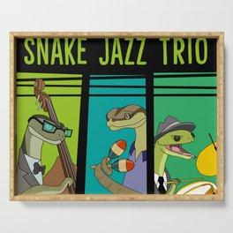 Snake Jazz Trio Vinyl  Serving Tray