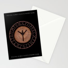 Algiz Elder Futhark Rune divinity, higher self, the state of listening, protective teaching force Stationery Cards