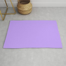 Lilac Purple Plain Rug