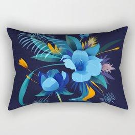 Flowers Azules Rectangular Pillow