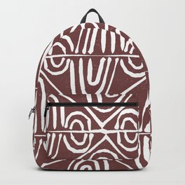 Hand stamped swirls Backpack