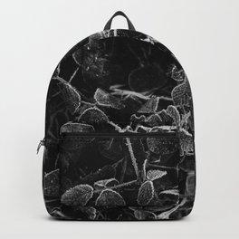 Frozen blackberry bush leaves | Winter in Holland | Fine Art photo print Backpack