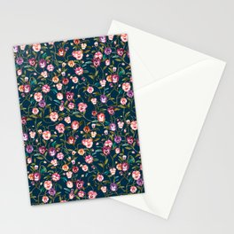 Wonderland Dark Petrol Multi Floral Stationery Cards