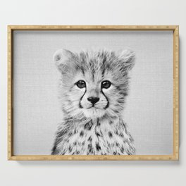 Baby Cheetah - Black & White Serving Tray