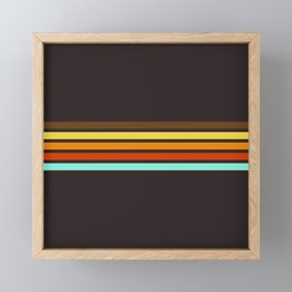 5 Thin Colorful Stripes 19 Framed Mini Art Print