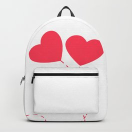 Red heart ballon Backpack