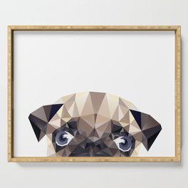 Pug Diamonds Serving Tray