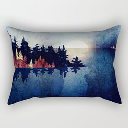 Autumn Moon Reflection Rectangular Pillow