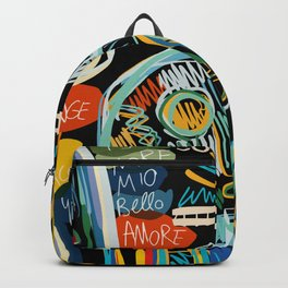 Graffiti Art Creatures Rainbow Colors and Words  Backpack