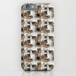 Battery Mishler Power Hoist lower section pattern iPhone Case