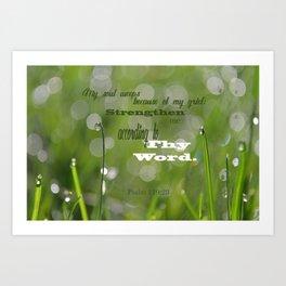 Psalm 119 Tears Art Print