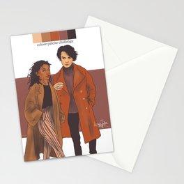 SKAM NL colour palette challenge Noah/Liv Stationery Cards