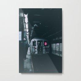 New York Subway Train Metal Print
