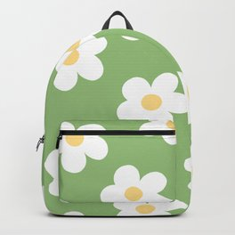 Retro 60's Flower Power Print 2 Backpack