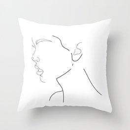 Side Profile Throw Pillow