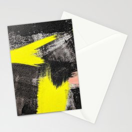 Electric Lime Abstract Stationery Cards