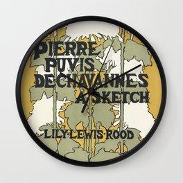 Pierre Puvis De chavannes, a sketch Lily Lewis Wall Clock
