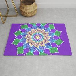 Aum Lotus Mandala Rug