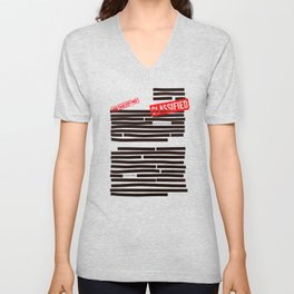 Censored text (Classified information) Unisex V-Neck