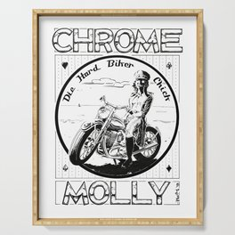 Chrome Molly Serving Tray