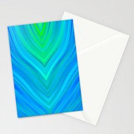 stripes wave pattern 3 std Stationery Cards