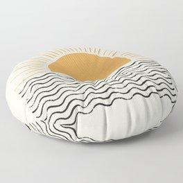 Sunrise Ocean -  Mid Century Modern Style Floor Pillow