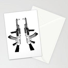 BLACK AK 47 Stationery Cards