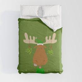 Merry Christmoose - Christmas Mistletoe Moose Comforters