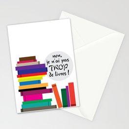Trop de livres... ou pas ! Stationery Cards