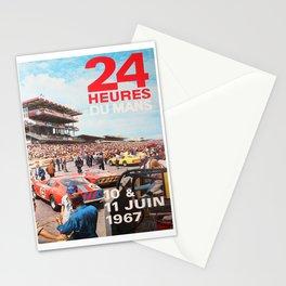24hs Le Mans 1967, vintage poster Stationery Cards