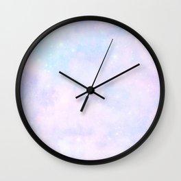 Pastel Cloulds Sky Seamless Nebula 55 Wall Clock