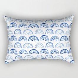 Blue watercolor vibes Rectangular Pillow