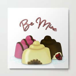 Be Mine Valentine's Day Candy Metal Print