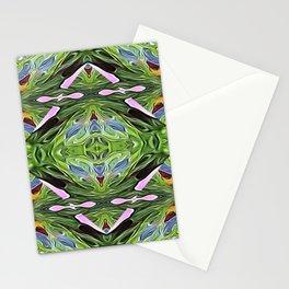 Green Diamond Star Stationery Cards