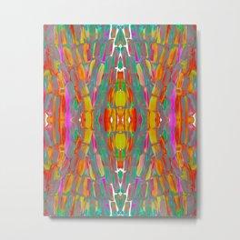 Dream Shade Sugarcane Pattern Metal Print