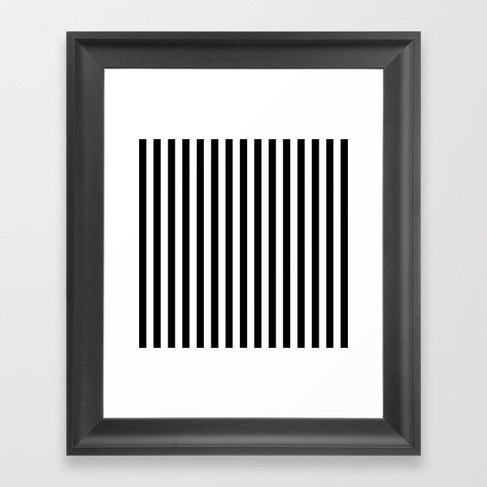 Stripe Black And White Vertical Line Bold Minimalism Stripes Lines Gerahmter Kunstdruck