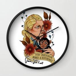 Jane Goodall Wall Clock