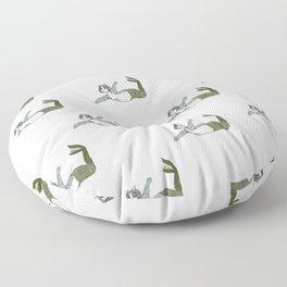 Mermaid Cat Motif Floor Pillow