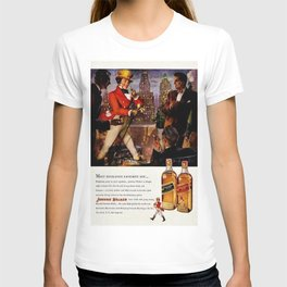 Vintage 1951 Johnnie Walker Alcohol - Whiskey Advertisement Poster T-shirt