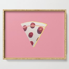 Think about pizza Serving Tray