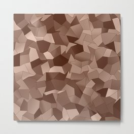 Geometric Shapes Fragments Pattern co Metal Print