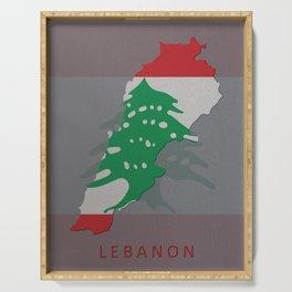Lebanon, Outline, Map Serving Tray