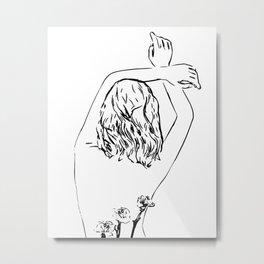 Oblivious #drawing #illustration Metal Print