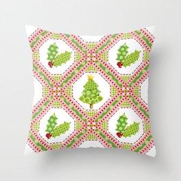 Polka Dot Christmas Throw Pillow