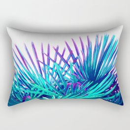 Cool modern teal purple gradient artistic palm tree tropical plants Rectangular Pillow