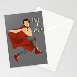 Take It Easy, El Luchador Mascarado Artwork Stationery Cards
