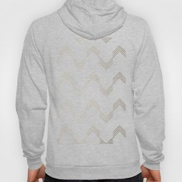 Simply Deconstructed Chevron White Gold Sands on White Hoody