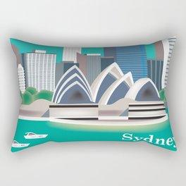Sydney, Australia - Skyline Illustration by Loose Petals Rectangular Pillow