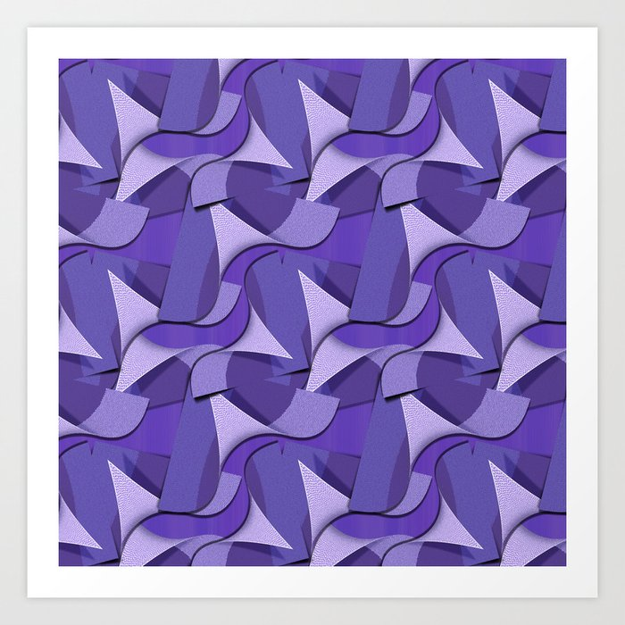 Ultra Violet Abstract Waves Kunstdrucke