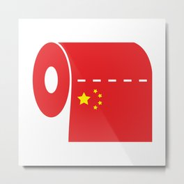 CCP Toilet Paper Metal Print